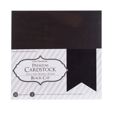 Darice Core´dinations smooth 30,5x30,5cm 20 vel black cat