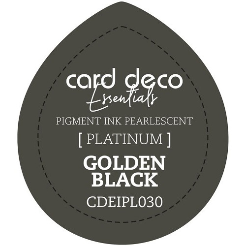 Card Deco Essentials Fast-Drying Pigment Ink Pearlescent Golden Black