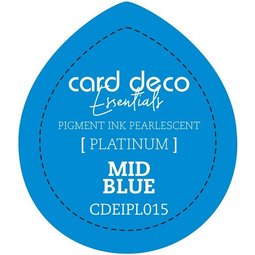 Card Deco Essentials Fast-Drying Pigment Ink Pearlescent Mid Blue