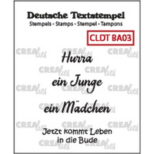 Crealies Clearstamp Tekst (DE) Baby 03 CLDTBA03 33 mm (01-19)