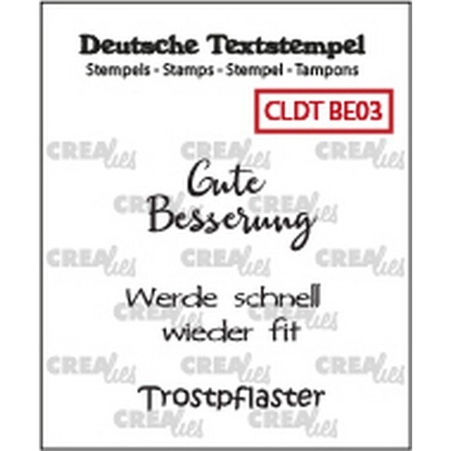 Crealies Clearstamp Tekst (DE) Besserung 03 CLDTBE03 33 mm (01-19)