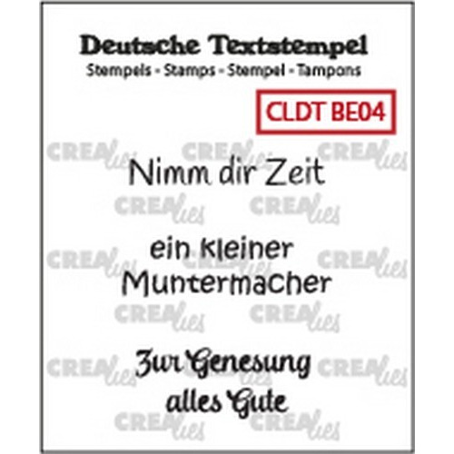 Crealies Clearstamp Tekst (DE) Besserung 04 CLDTBE04 33 mm (01-19)
