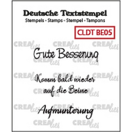 Crealies Clearstamp Tekst (DE) Besserung 05 CLDTBE05 33 mm (01-19)