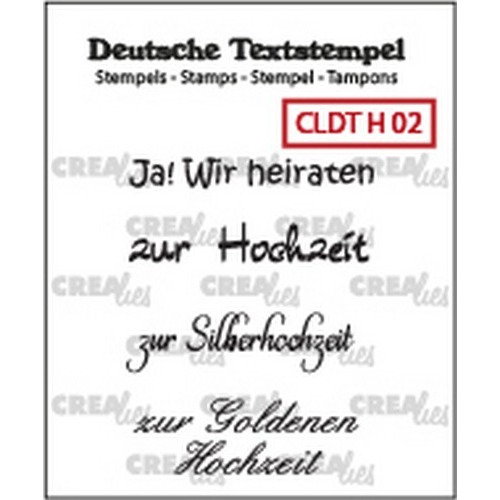 Crealies Clearstamp Tekst (DE) Hochzeit 02 CLDTH02 33 mm (01-19)