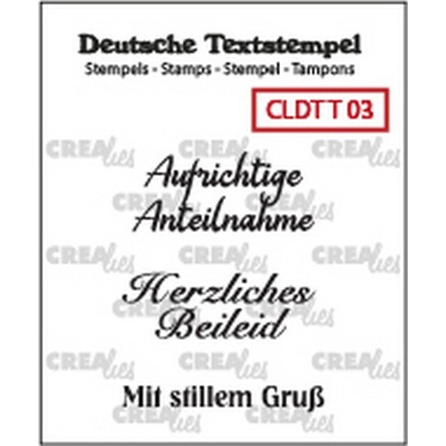 Crealies Clearstamp Tekst (DE) Teilname 03 CLDTT03 33 mm (01-19)