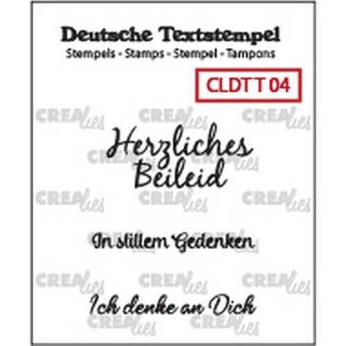 Crealies Clearstamp Tekst (DE) Teilname 04 CLDTT04 33 mm (01-19)