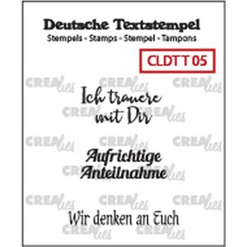 Crealies Clearstamp Tekst (DE) Teilname 05 CLDTT05 33 mm (01-19)