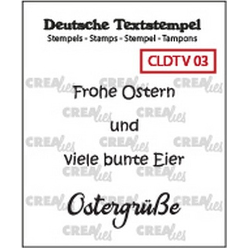 Crealies Clearstamp Tekst (DE) Viel 03 CLDTV03 33 mm (01-19)