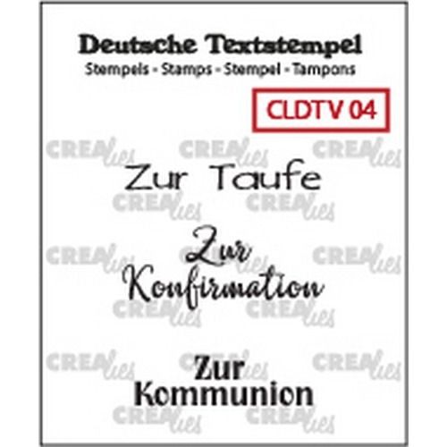 Crealies Clearstamp Tekst (DE) Viel 04 CLDTV04 33 mm (01-19)