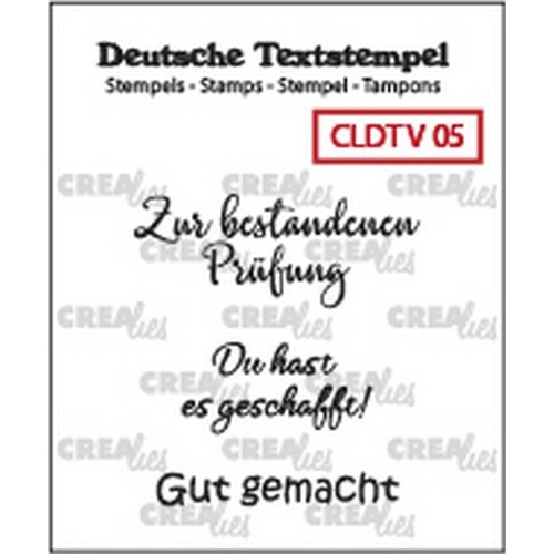 Crealies Clearstamp Tekst (DE) Viel 05 CLDTV05 33 mm (01-19)