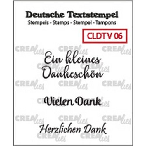 Crealies Clearstamp Tekst (DE) Viel 06 CLDTV06 33 mm (01-19)
