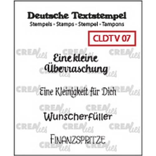 Crealies Clearstamp Tekst (DE) Viel 07 CLDTV07 33 mm (01-19)