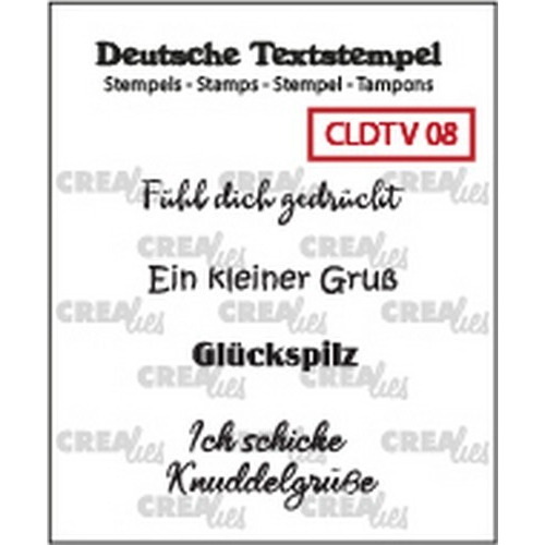 Crealies Clearstamp Tekst (DE) Viel 08 CLDTV08 33 mm (01-19)