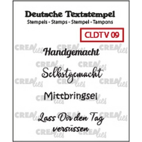 Crealies Clearstamp Tekst (DE) Viel 09 CLDTV09 33 mm (01-19)