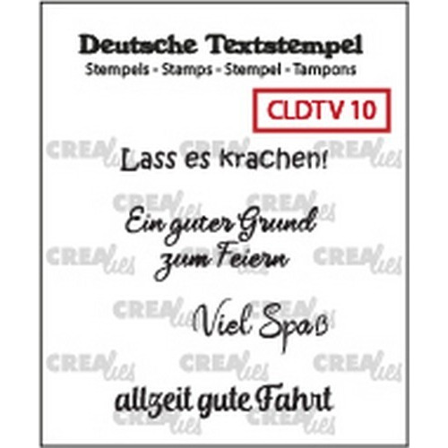 Crealies Clearstamp Tekst (DE) Viel 10 CLDTV10 33 mm (01-19)