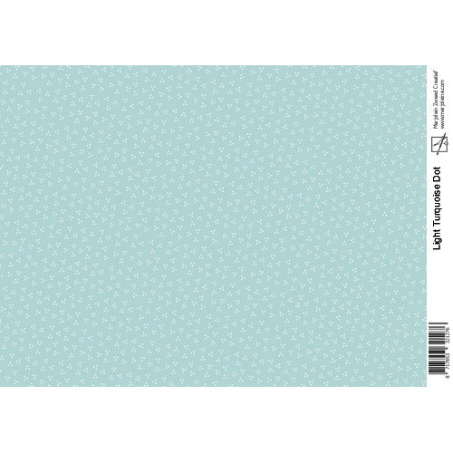 Marjoleine`s Decoupage sheets - light turquoise A4