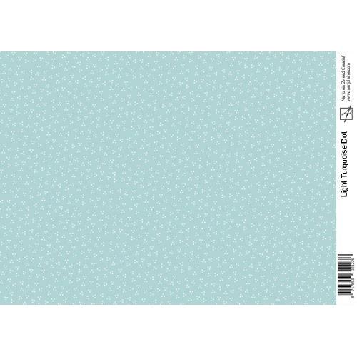 Marjoleine`s Decoupage sheets - light turquoise A4
