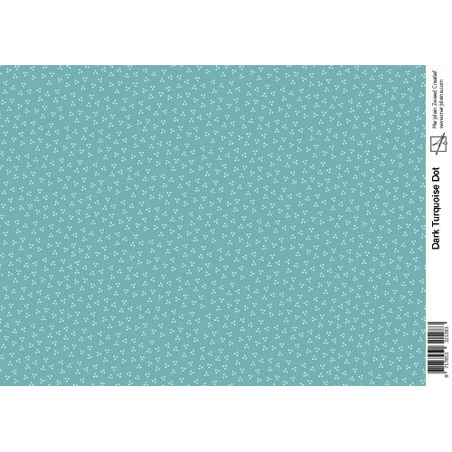 Marjoleine`s Decoupage sheets - dark turquoise A4