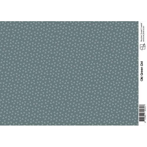 Marjoleine`s Decoupage sheets - old green dot A4