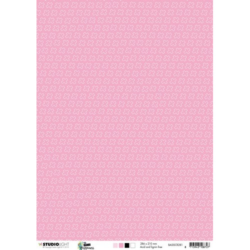 Studio Light Achtergrondpapier 1vel A4 Create Happiness nr 281 BASISCR281 (02-19)