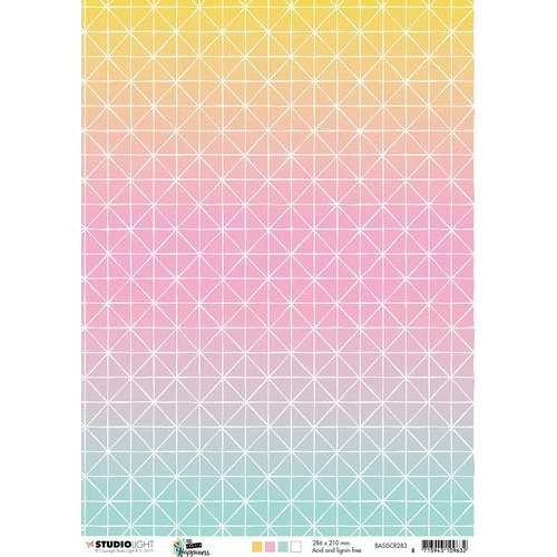 Studio Light Achtergrondpapier 1vel A4 Create Happiness nr 283 BASISCR283 (02-19)