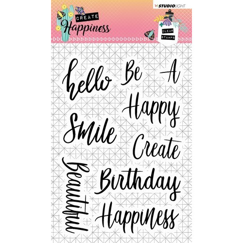 Studio Light Clearstempel A6 Create Happiness nr.346 STAMPCR346 (02-19)
