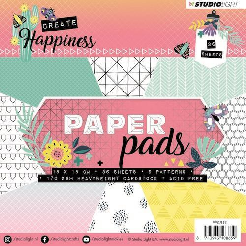 Studio Light Paper Pad 36 vel Create Happiness nr 111 PPCR111 15x15cm (02-19)