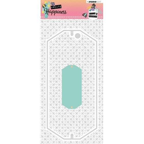 Studio Light Embossing Die 93x202 mm Create Happiness nr.162 STENCILCR162 (02-19)