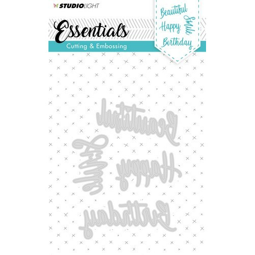 Studio Light Embossing Die Cut Stencil Essentials nr.163 STENCILSL163 (02-19)