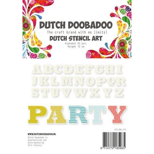 Dutch Doobadoo Dutch Stencil Art Alfabet 4 (120 mm) 470.990.112 (02-19)
