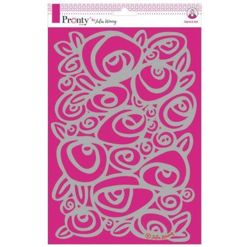 Pronty Stencil A4 Roses 470.765.007  A4 Julia Woning (02-19)