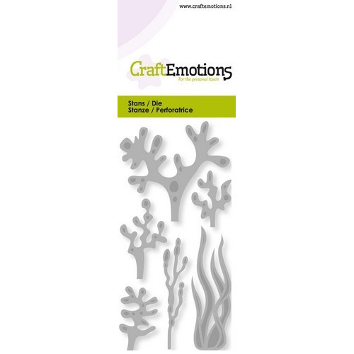 CraftEmotions Die - zeewier, koraal Card 5x10cm (02-19)