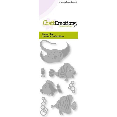 CraftEmotions Die - tropische vissen Card 5x10cm (02-19)