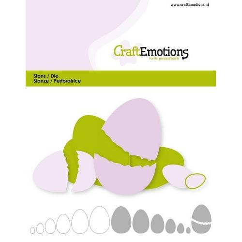 CraftEmotions Die - randen ei Card 11x9cm - 2,6-10,6cm (02-19)