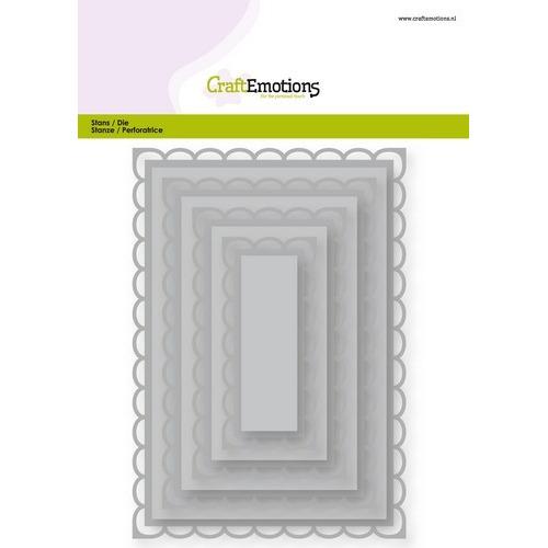 CraftEmotions Big Nesting Die - rechthoeken scalop XL open Card 150x160 6,8-15,0cm (02-19)
