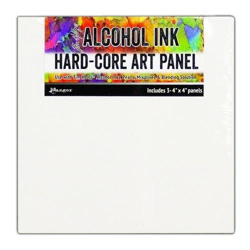 Ranger Alcohol Ink Hard Core Art Panels 4 x 4 3 Pack TAC66897 Tim Holtz (02-19)
