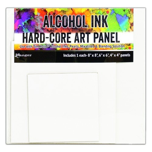 Ranger Alcohol Ink Hard Core Art Panels Square 3 Pack  4, 6 and  8 TAC66927 Tim Holtz (02-19)