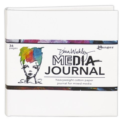 Ranger Media 6x6 White Journal - Heavyweight Watercolor MDJ61106 Dina Wakley (02-19)