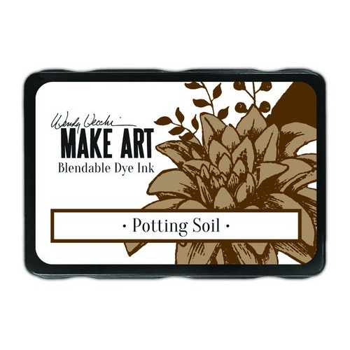 Ranger MAKE ART Dye Ink Pad Potting Soil WVD64367 Wendy Vecchi (02-19)