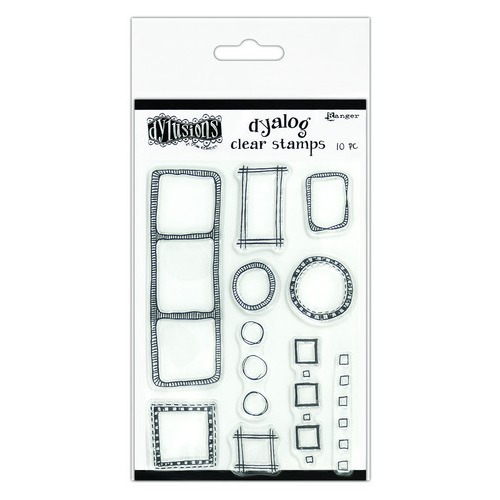 Ranger Dylusions Dyalog Clear Stamp Set All the Right Boxes DYB65357 Dyan Reaveley (02-19)