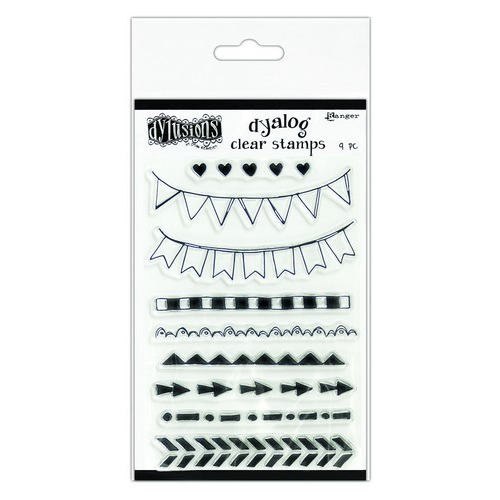 Ranger Dylusions Dyalog Clear Stamp Set On the Edge DYB65388 Dyan Reaveley (02-19)