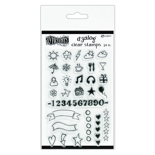 Ranger Dylusions Dyalog Clear Stamp Set The Full Package DYB65395 Dyan Reaveley (02-19)