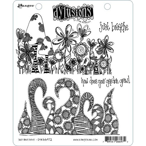 Ranger Dylusions Cling Stamp Set Just Breathe DYR66972 Dyan Reaveley (02-19)