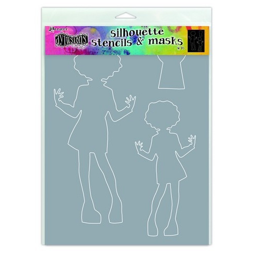 Ranger Dylusions Stencils - Silhouettes Maisie DYS65302 Dyan Reaveley (02-19)