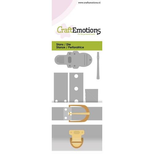 CraftEmotions Die - vintage sluitingen - klinknagels Card 5x10cm (04-19)