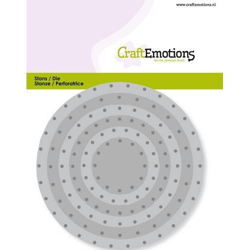 CraftEmotions Die - cirkels vintage - klinknagels Card 11x9cm - 3,2-9,4cm (04-19)
