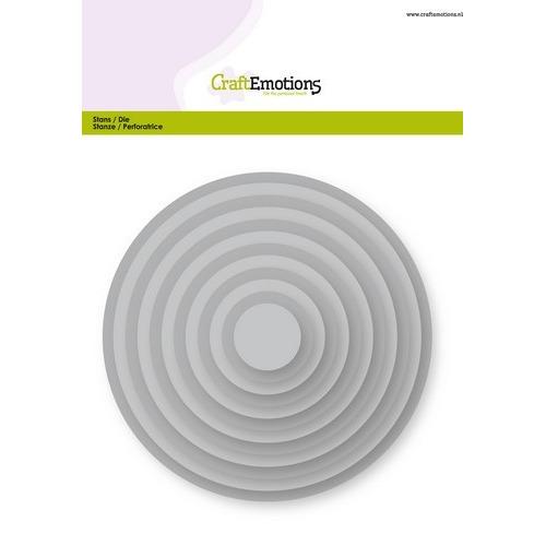 CraftEmotions Big Nesting Die - cirkels Card 150x160 - 1,8-13,0cm (04-19)