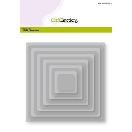CraftEmotions Big Nesting Die - vierkanten, afgeronde hoeken Card 150x160 - 2,7-13,0cm (04-19)