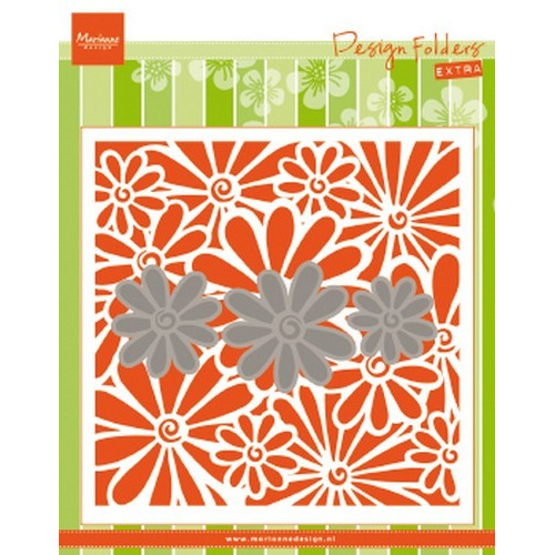 Marianne D Embossing folder Extra madeliefjes DF3451 152x154mm (03-19)