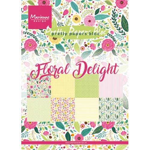 Marianne D Paperpad Floral Delight A5 PK9161 (03-19)